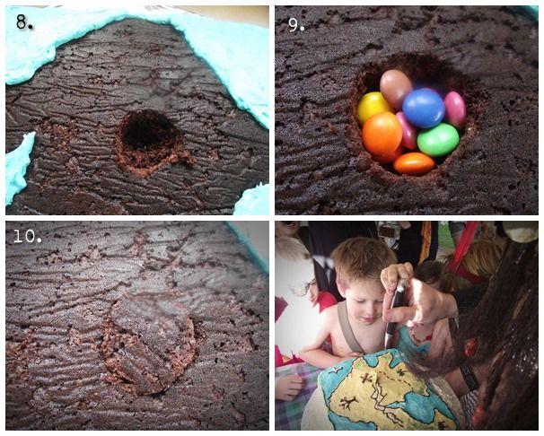 Great Fun etc: How to make a Treasure Map Cake