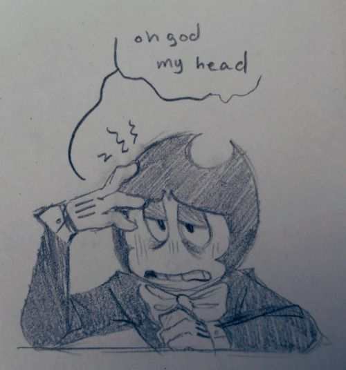 bendy and the ink machine | Tumblr Bendy Suffering From A Hangover