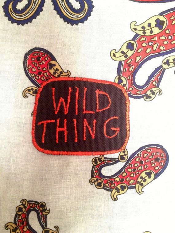 Wild Thing Patch by ZigZagPatchCo on Etsy, $13.00