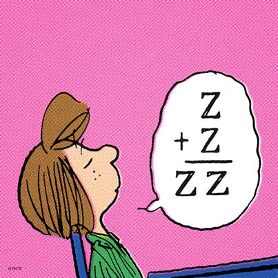 Z + Z = ZZ #Cartoon #Peanuts have students journal write about this cartoon. Do they think it is correct?