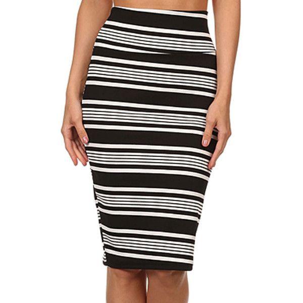 Available In Black Pencil Skirt High Waisted Coated Millennium Skirt 20