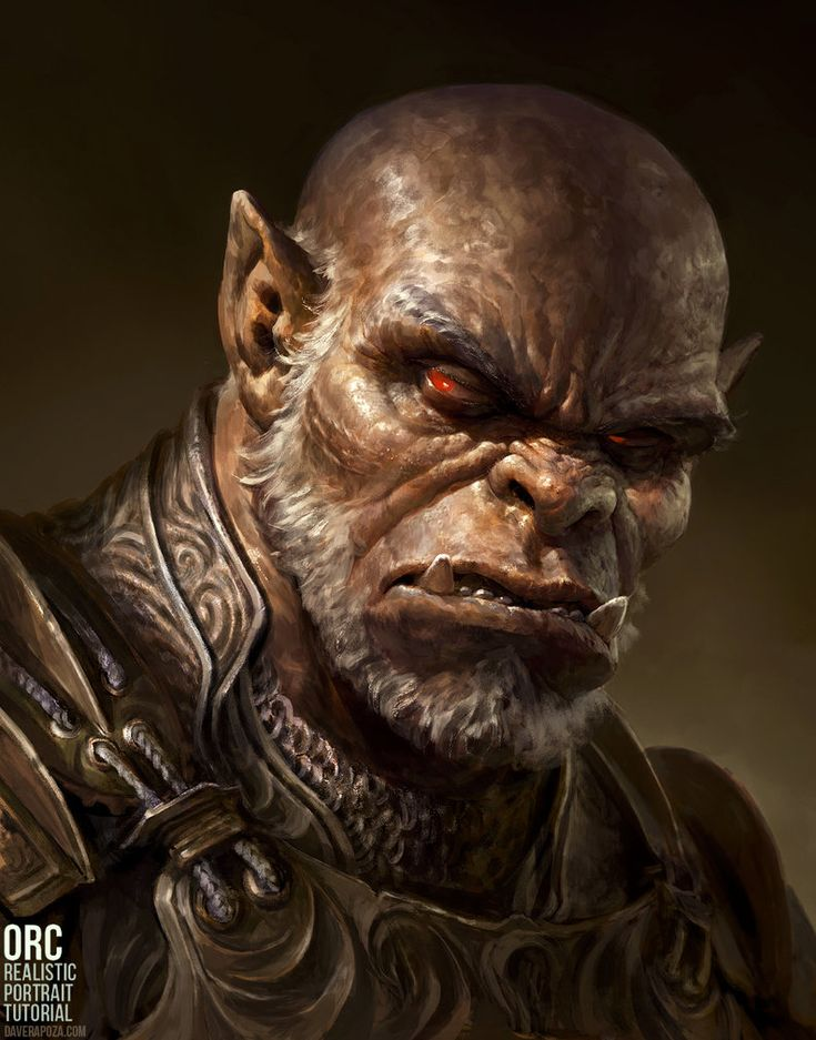"""I've recently uploaded my complete 15 hour """"Orc - Realistic Portrait Tutorial"""" w/Full Commentary to my Gumroad! If you'd like to learn how I go about sketching, planning my lighting, rendering form..."""