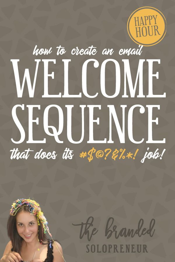 {Free Training}How to Create a Email Welcome Series That Does its #$@?&%*! Job | Learn how to create an email welcome series that transforms your readers into raving fans who salivate over your emails and offers.