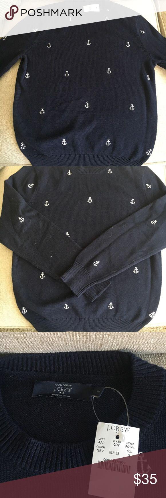 Men's Blue & White Small J Crew Anchor Sweater Men's Small Blue & White J Crew Anchor Sweater with tags; never worn J. Crew Sweaters Crewneck