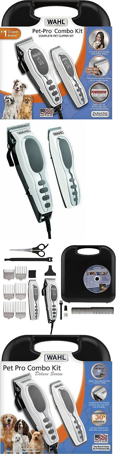Scissors and Fur Clippers 46304: 17 Pcs Pet Pro Combo Kit Grooming Electric Hair Shears Clipper Dog Trimmer Set BUY IT NOW ONLY: $48.33