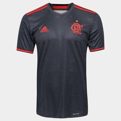A Camisa Adidas Flamengo Especial 2016 Chumbo e Vermelho veste o torcedor flamenguista de honra e tradição. Garanta o novo manto e estampe com orgulho as cores do Rubro-Negro. | Netshoes