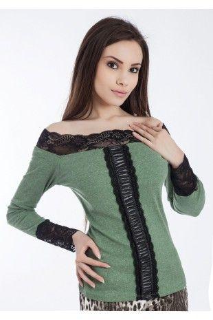 Bluza Arisha Verde-www.zonia.ro