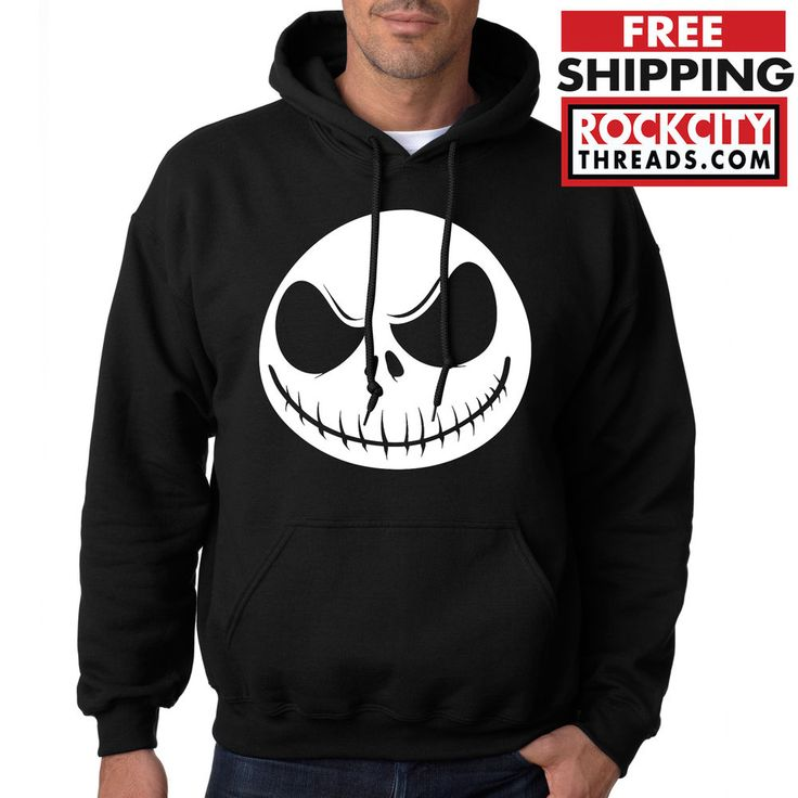 NIGHTMARE BEFORE CHRISTMAS HOODIE Jack Skellington Sweatshirt Disney B4 Xmas USA #RockCityThreads #Hoodie