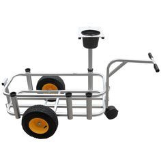 "Same as the regular Junior Cart except with a front caster wheel. Fish N Mate Junior fishing cart is only 10"" shorter and 2"" narrower than the full size Fish N Mate surf fishing cart. The non-corrosiv"