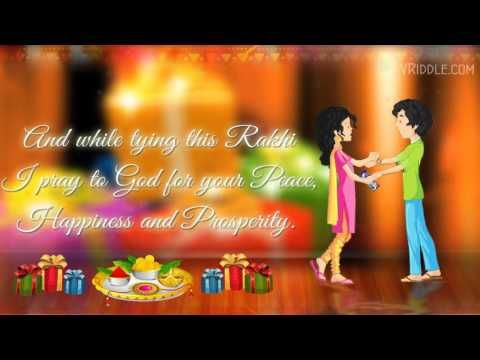 Raksha Bandhan Rakhi Wishes to a Brother - An Animated Greetings Video - YouTube