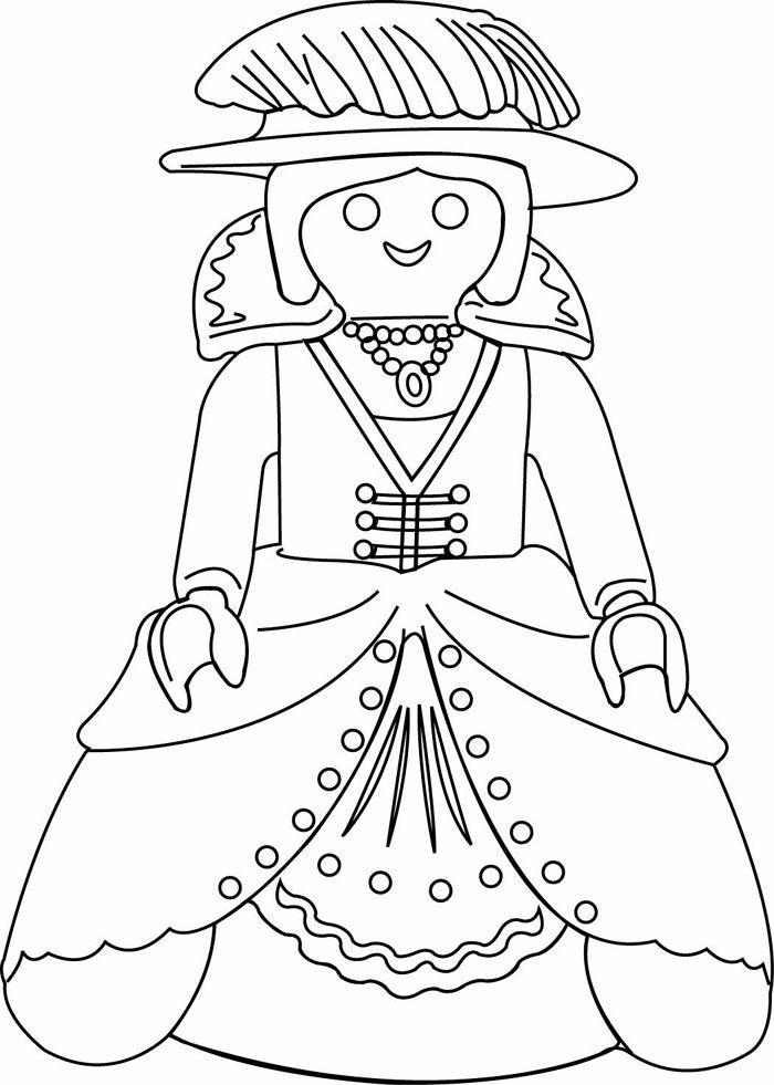 Dibujos Para Colorear De Playmobil. Affordable Dibujo ...