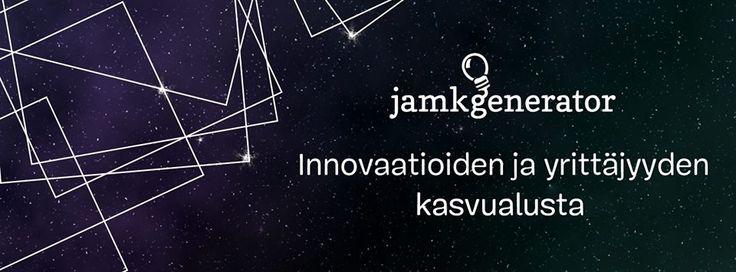 https://www.facebook.com/JAMKGenerator/timeline  JAMK Generatorissa voi ideoida, innostua, kehittää liikeideaa tai perustaa yrityksen osana muita opintoja.
