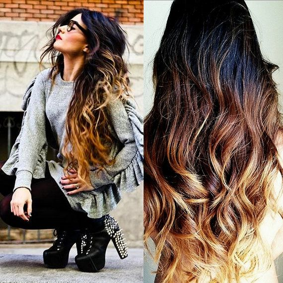SUNRISE OMBRE / Hair Extensions / Natural Human Hair Weave / Body Wave Texture / 100g Weave Bundle on Etsy, $205.00