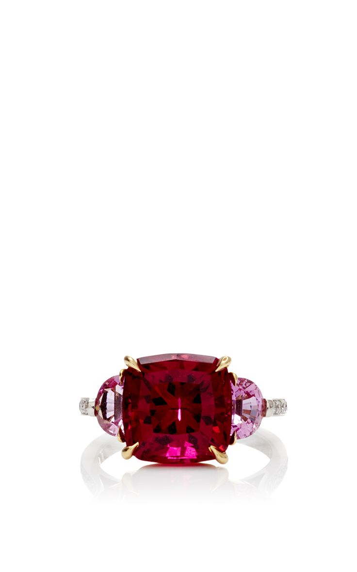 One Of A Kind Cushion Pink Tourmaline Ring by Paolo Costagli for Preorder on Moda Operandi