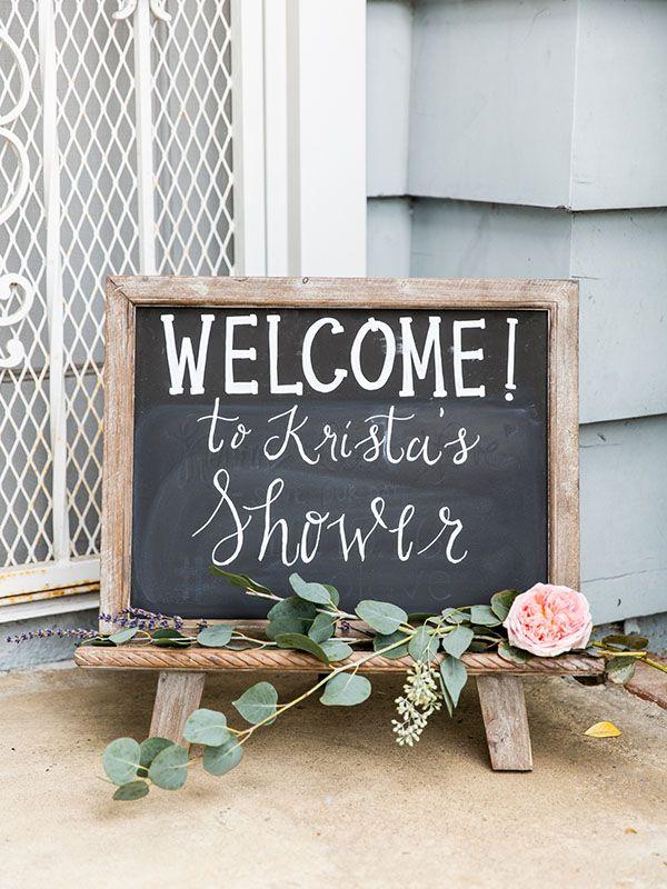 Garden party wedding shower | bridal shower decor