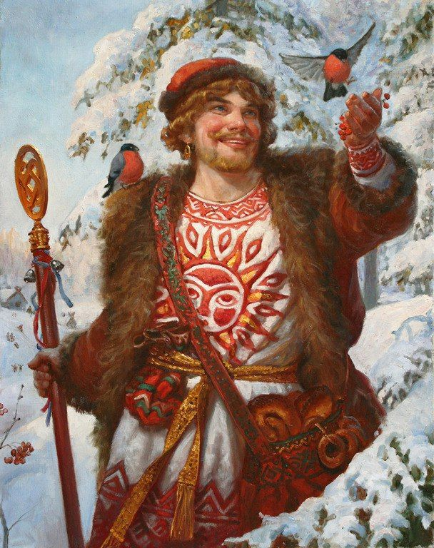 Коляда - Kolyada (Коляда) is the god of feasts and peace; it is also the god of the winter solstice