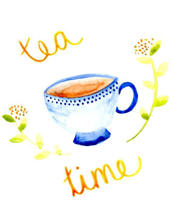 Tea Time Printable - Esty - Little Pond Prints