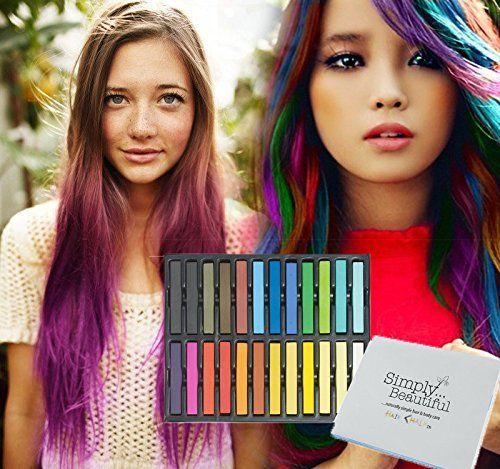 #SimplyBeautiful - 24 #Gessetti colorati temporanei per #capelli