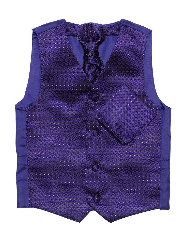 Boys purple waistcoat set