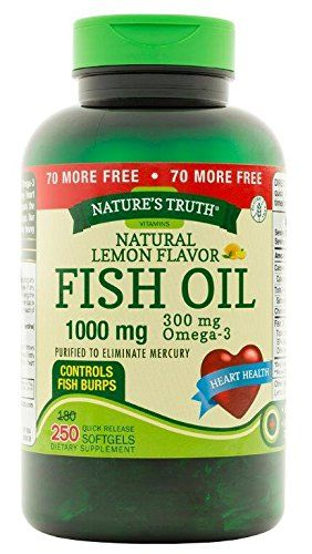 Nature's Truth 1000 Mg Omega-3 Fish Oil Softgels, 250 Count >>> Be sure to check out this helpful article.