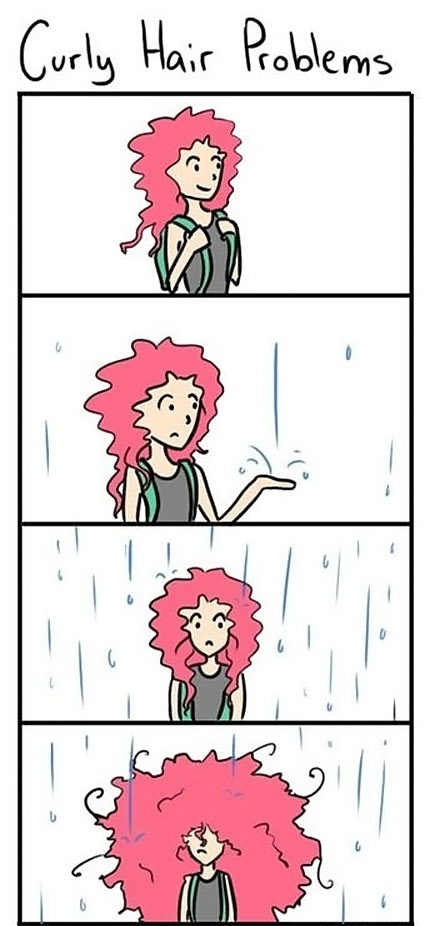 Curly hair problems - Truth!