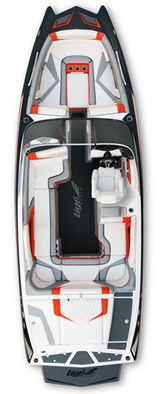 2014 Mastercraft X-46 Wakeboard Boat: Overhead View of '13 Tige RZ4