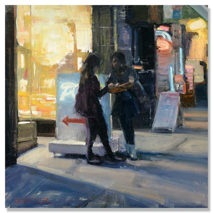 """Jim Beckner I """"Texting"""" I Oil, 24 x 24"""""""