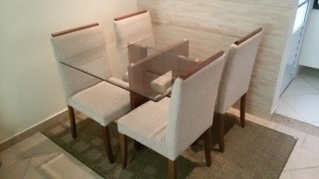 mesas de jantar com 4 cadeiras para apartamento pequeno