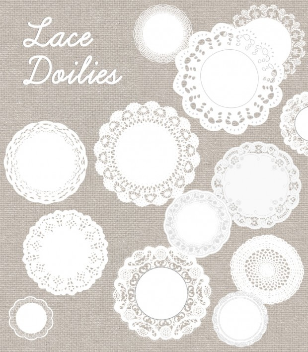 Free Lace Doily Vector
