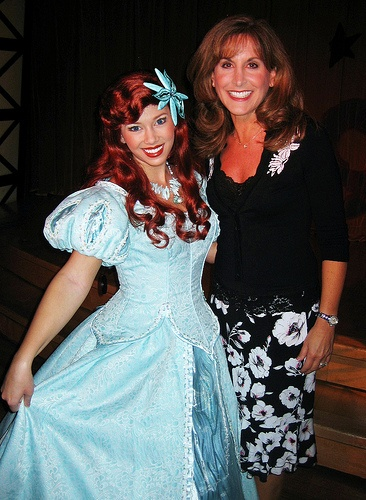 Jodie Benson (the voice of Ariel) with Ariel!