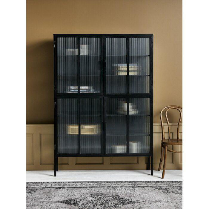 4 Door Storage Cabinet In 2019 Door Storage Wood Storage Cabinets Interior Design Business
