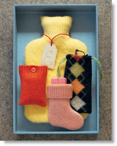 Sweater recycling, martha stewart! Not crazy about these ideas but must repurpose