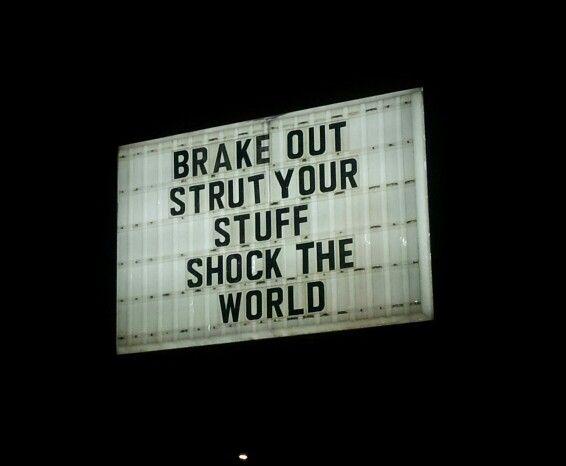 Auto repair shop. Someone was bored.