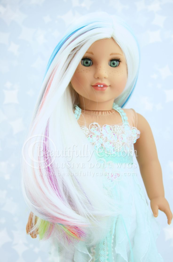 Unicorn Deluxe Elegance Doll Wig For Custom American Girl