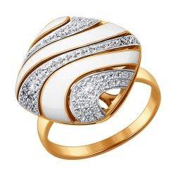 Кольцо из золота с эмалью с бриллиантами