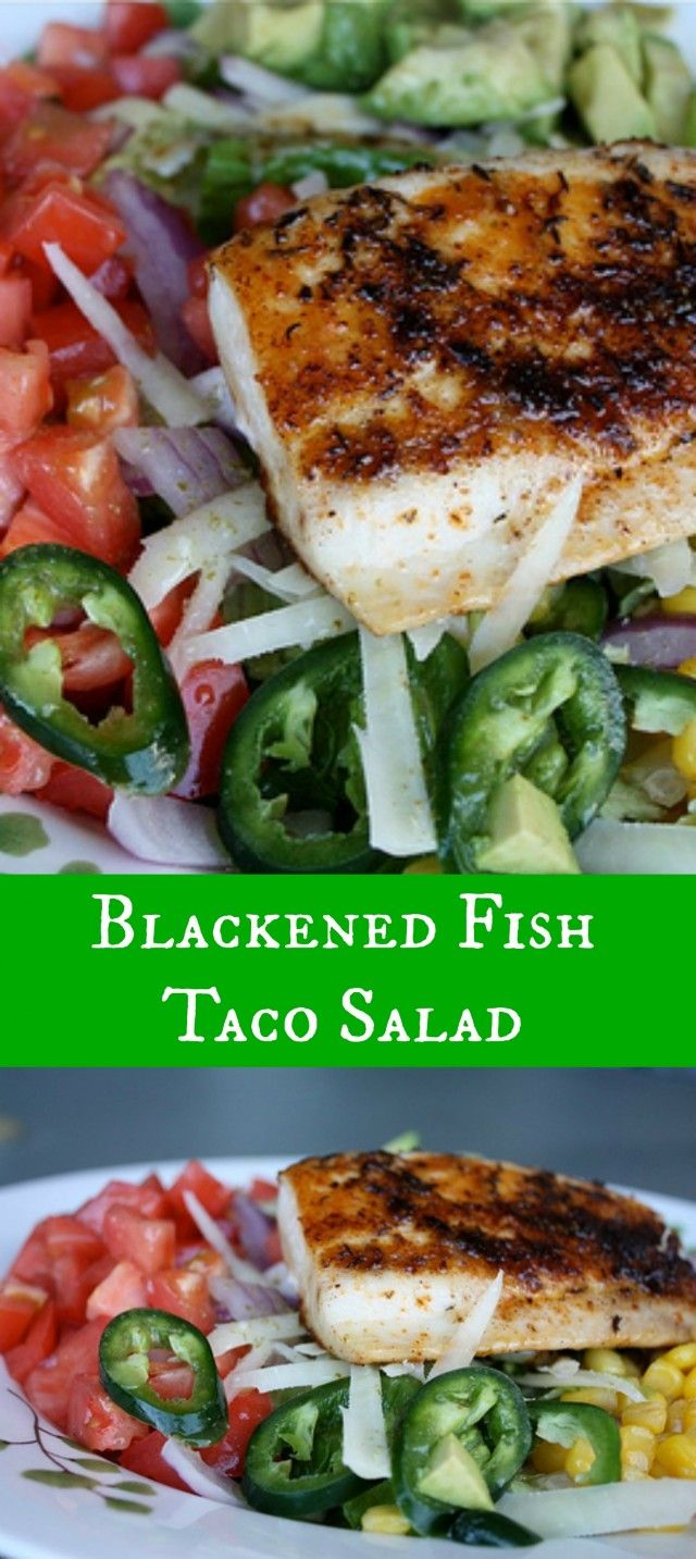 If you are craving a fish taco but don't want the carbs from the taco shell - this Blackened Fish Taco recipe is your answer! One of my all time favorites fresh salads full of flavor!