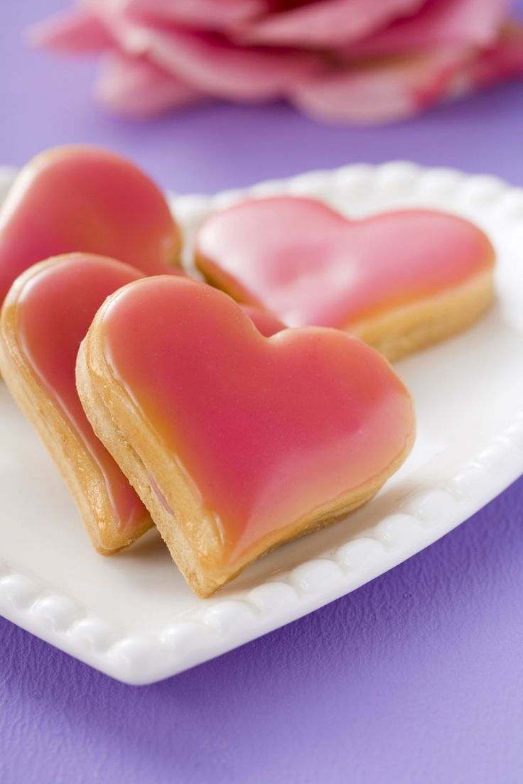valentine heart biscuits