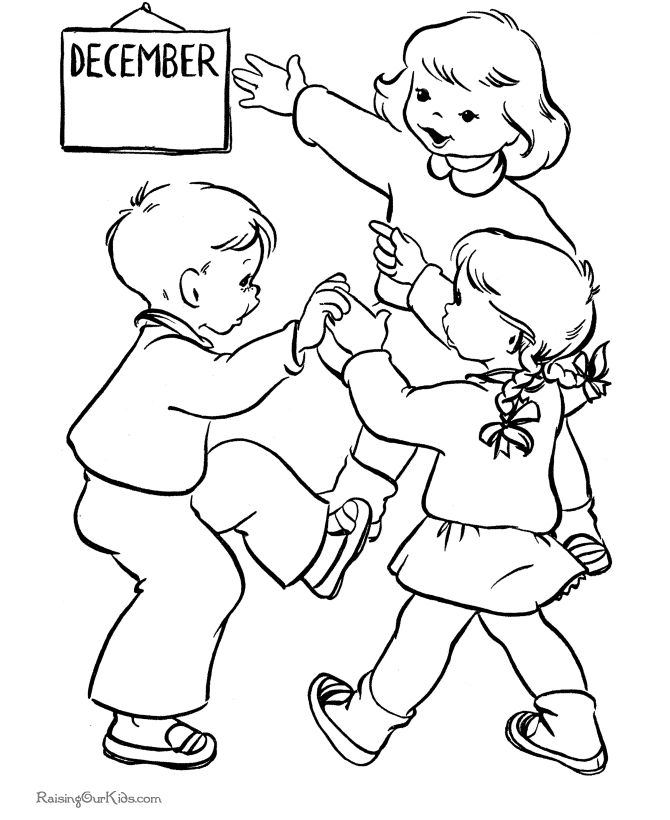 Kids printable christmas coloring pages it 39 s december for December coloring pages