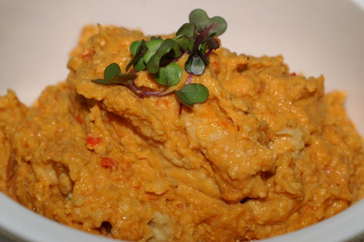 Paprika-Hummus, einfach und schnell gemacht, lecker und orientalisch, vegan und glutenfrei