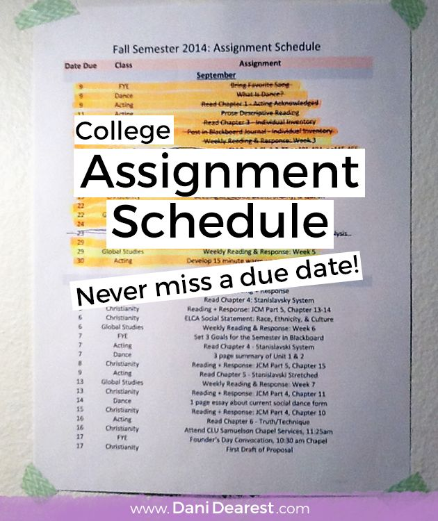 How to make the perfect assignment planner and scheduler to ensure that you never miss a due date again!