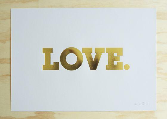 Blacklist - Love Gold Foil Print