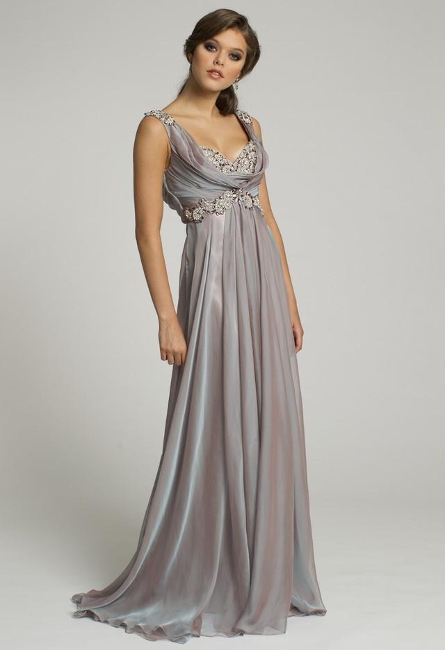 Guest of wedding dresses iridescent chiffon long dress for Usa group wedding dresses