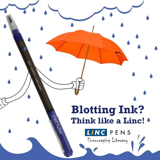 Enjoy a carefree monsoon without the fear of blotting. Ink with the Linc!  #Enjoy #Carefree #Monsoon #EncouragingLiteracy #Pen #LincPens