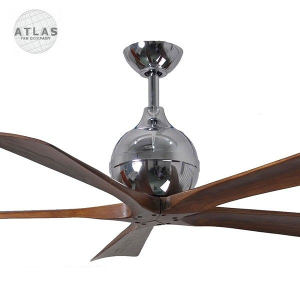 Atlas Irene-5 Ceiling Fan - Polished Chrome 52"