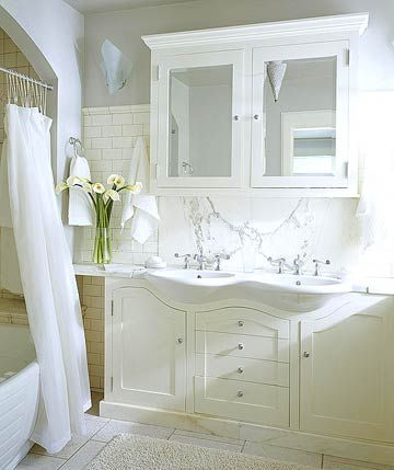 51 best images about bathroom reno on pinterest light for Country cottage bathroom ideas