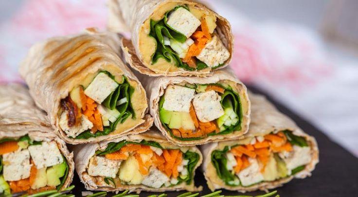 Вегетарианские рулетики гриль с тофу и овощами.