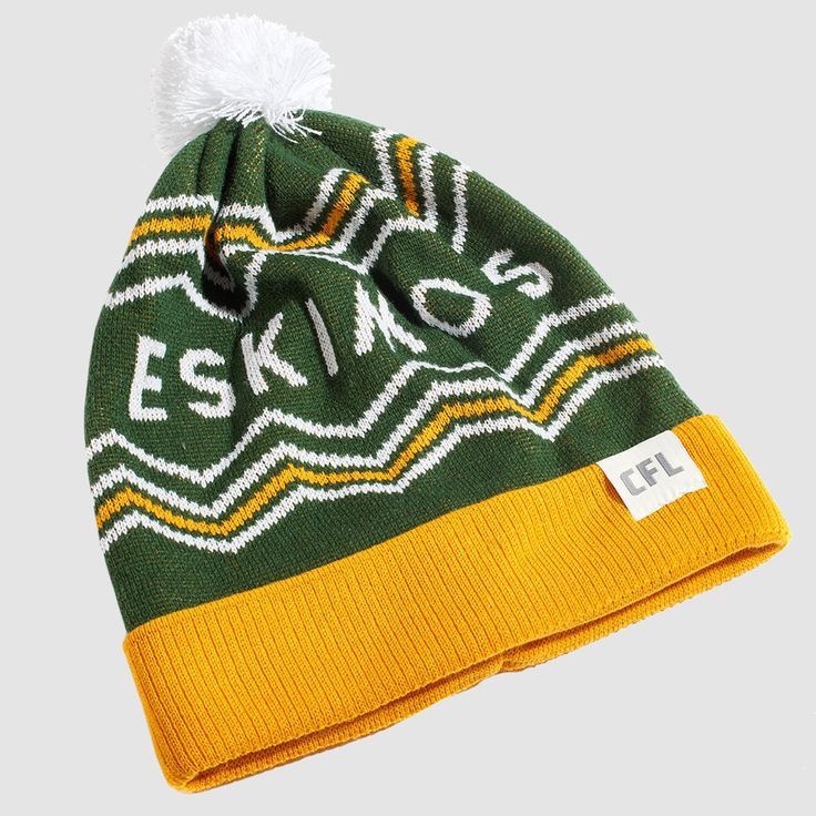 CFL Edmonton Eskimos Toque. Dress in style this winter with the Eskimos toque. Whether you're just walking through the streets of Edmonton or in the stands at Commonwealth Stadium, make sure you #RepYourHood with this limited edition toque.  An official Tuck Shop and CFL collaboration.  Proudly Made in Canada.