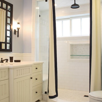 ... And White Shower Curtain Design, Pictures, Remodel, Decor and Ideas