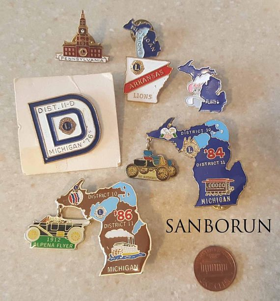 7 Lions Club The Penny is not included. Ships to Canada, United States, Austria, Belgium, France, Germany, Italy, Portugal, the Scandinavian countries, Spain and The Netherlands. Please note that combined shipping is accepted for up to three sets of listed pins (i.e. Only two additional