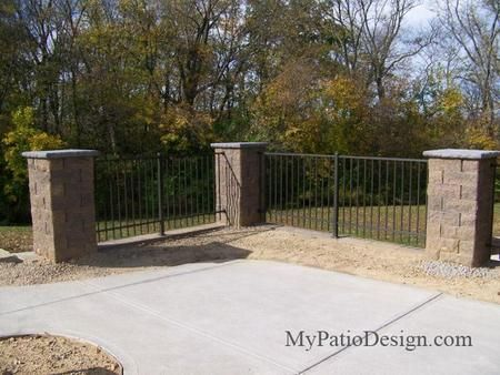 Using Block Columns As Fence Post. Download Patio Plans With Seating Walls  At MyPatioDesign.